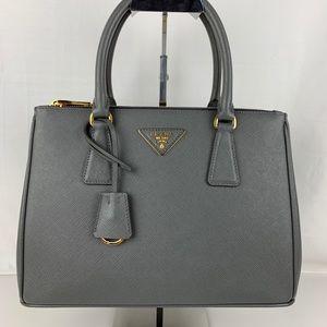 New Prada Small Galleria Lux Mercurio Leather Tote